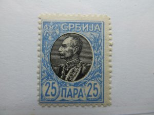 Serbien Serbia 1905-11 25p Perf 11½ Fine MH* A5P18F369