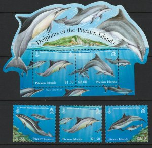 Pitcairn Islands Scott 773-736a Dolphines