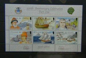 Tristan Da Cunha 2006 Discovery Tristan Da Cunha 1st Series Miniature Sheet LMM