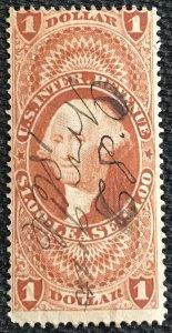 US Revenue #R70c Used Single George Washington SCV $4.50 L37