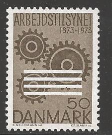 Denmark 1973 SC518 First Danish Factory Act for labor MNH