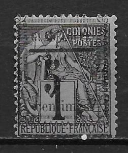 Guadeloupe 6 5c Surcharge single MH (z2)