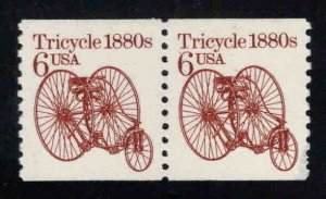 USA Scott 2126 MNH** antique Tricycle stamp coil pair