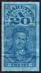TA 157c Series 102: 20 Cigarettes Tax Stamp (1932) Used