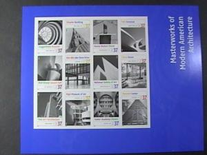 U.S.# 3910-MNH--PANE OF 12--MASTERWORKS OF MODERN AMERICAN ARCHITECTURE--2005
