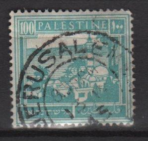 Palestine 1927 Scott 80 used- 100m Tiberias & Sea of Galilee