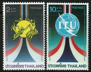 Thailand 1111-12  MNH - ITU and UPU - 1985