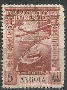 ANGOLA, 1938, used 5a Vasco da Gama Scott C7