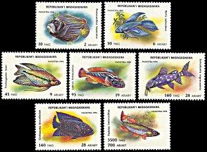 Madagascar MNH 1192-8 Aquarium Fish Marine Life 1994
