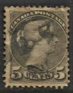 STAMP STATION PERTH Canada #5c QV Stamp Used - Unchecked