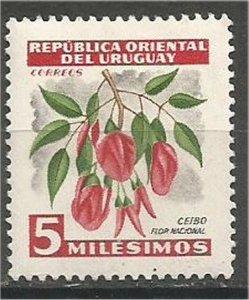 URUGUAY, 1955, MH 5m , Flowers. Scott 605