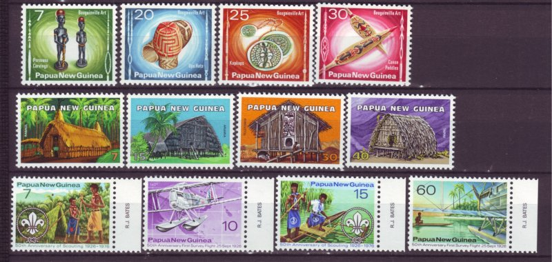 J21838 Jlstamps 3 dif 1976 png sets mnh #429-32,433-6,437-40