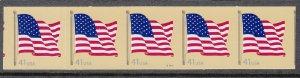 USA PNC SC# 4187 FLAG $0.41c PL# S1111 SMOOTH TAG SELF ADHESIVE PNC5 MNH