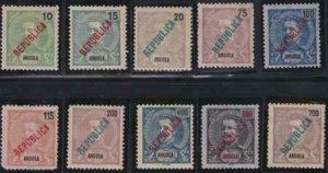 Angola 1914 SC 159-171 Mint Set