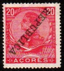 Azores #130a  Mint  Scott $22.50   Inverted Overprint