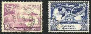 Singapore Scott 23-24 - UFVLH - SCV $3.20