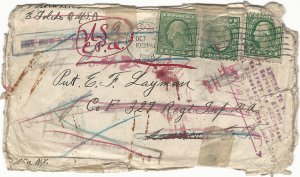 1918 American Expeditionary Force Addressee Returned to U.S.A. With Casualty