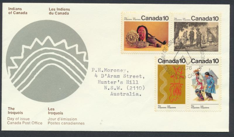 FDC SG 729a & SG739a SC# 579a & 581a SPECIAL - please read details - Iroquois