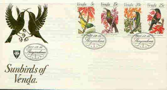 Venda 1981 Sunbirds set of 4 on illustrated cover with fi...