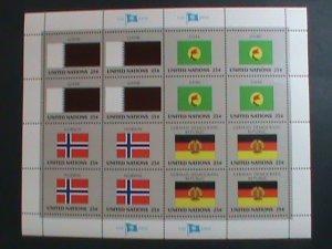UNITED NATION-1988 SC#536-539 U. N. FLAGS SERIES MNH FULL SHEET- VERY FINE