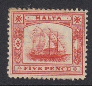 Malta Sc 44 (SG 59), MHR (toned perf at TL)