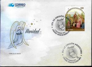 ARGENTINA 2015 CHRISTMAS RELIGION,ART YV 3094 FDC
