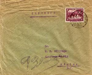 Peru 2c Pizarro and the Thirteen 1935 Huancayo I Printed matter to Mexico Cit...