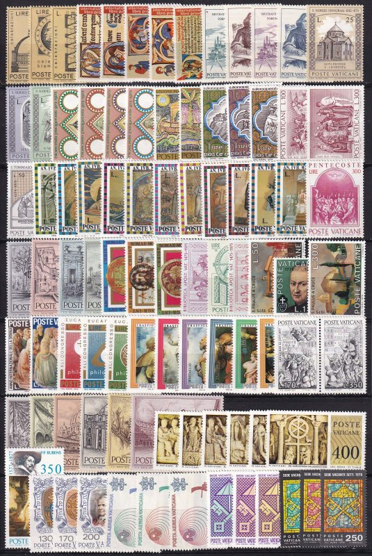 Worldwide lot - Vatican - All complete sets  - Unused MNH **