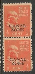 CANAL ZONE 118 MNH PAIR T814-1