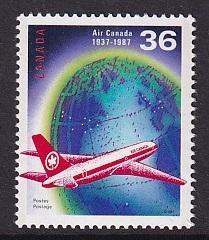 Canada  #1145  MNH  1987  Air Canada  anniversary