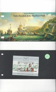 Isle of Man 311A Myles Standish/Mayflower 1620  MNH Presentation Folder