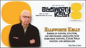 19-127, 2019, Ellsworth Kelly, Pictorial Postmark, FDC, Artist, Spencertown NY