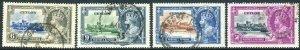 CEYLON-1935 Silver Jubilee Sg 379-382 FINE USED SET V42744