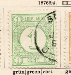Netherlands 1876-94 Early Issue Fine Used 1c. 119409