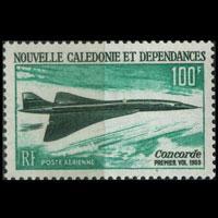 NEW CALEDONIA 1968 - Scott# C63 Concorde Set of 1 LH