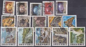 Zimbabwe 1980 Definitive set VFU