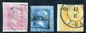 GR Lot 10585 German State Prussia 1857 Michel 6-8 -- 1SGR - 3 SGr as shown