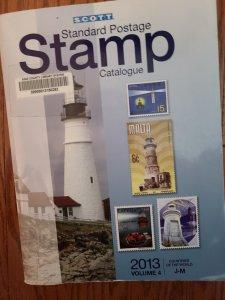 Scott Standard Postage Catalogue  - 2013 - Volume 4 - J-M