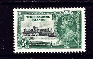 Turks and Caicos 71-74 MNH 1935 KGV Silver Jubilee