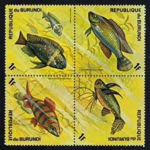 Burundi Scott 449a-449d Mint never hinged.