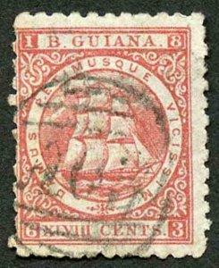 British Guiana 1866 SG104 48c Crimson Perf 10