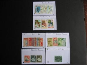 BERMUDA better on sales cards, unverified, mixed condition,check them out