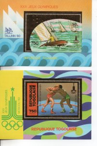 Togo 1980 Moscow Olympics MNH .