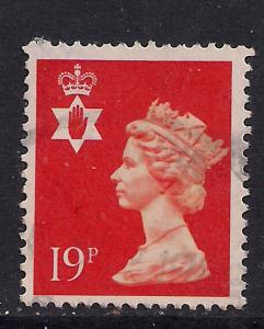Northern Ireland GB 1988 QE2 19p Orange Red Machin SG NI 49 ( D235 )