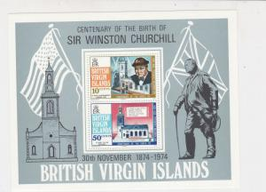 British Virgin Islands Sir Winston Churchill MNH Mini Stamps Sheet Ref 27097