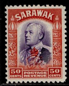 SARAWAK GVI SG161, 50c violet & scarlet, M MINT.