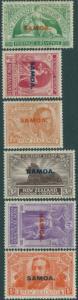 Samoa 1920 SG143-148 Victory set MLH