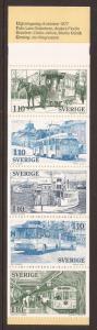 1977 Sweden -Sc 1224a -MNH VF- Complete Booklet - Public Transportation