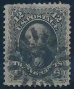 #69 12c 1861 VF+ WITH SAN FRANCISCO COGWHEEL CANCEL BV722
