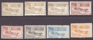 Romania (1903) #stamps from set 158-65 mint, ALL ARE FORGERIES!